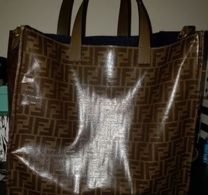 767ae972bb Fendi Bags - Fendi x Fila Mania Logo Tess Shopper